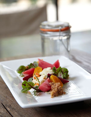 Beet spring salad