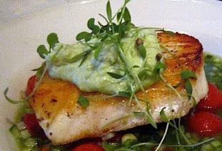 halibut avocado