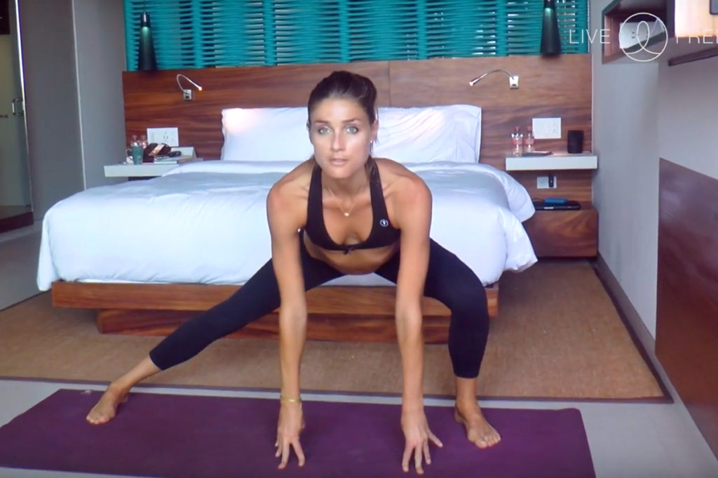 Join Sara Quiriconi as she moves you through this 10-minute yoga sequence she designed for travelers.