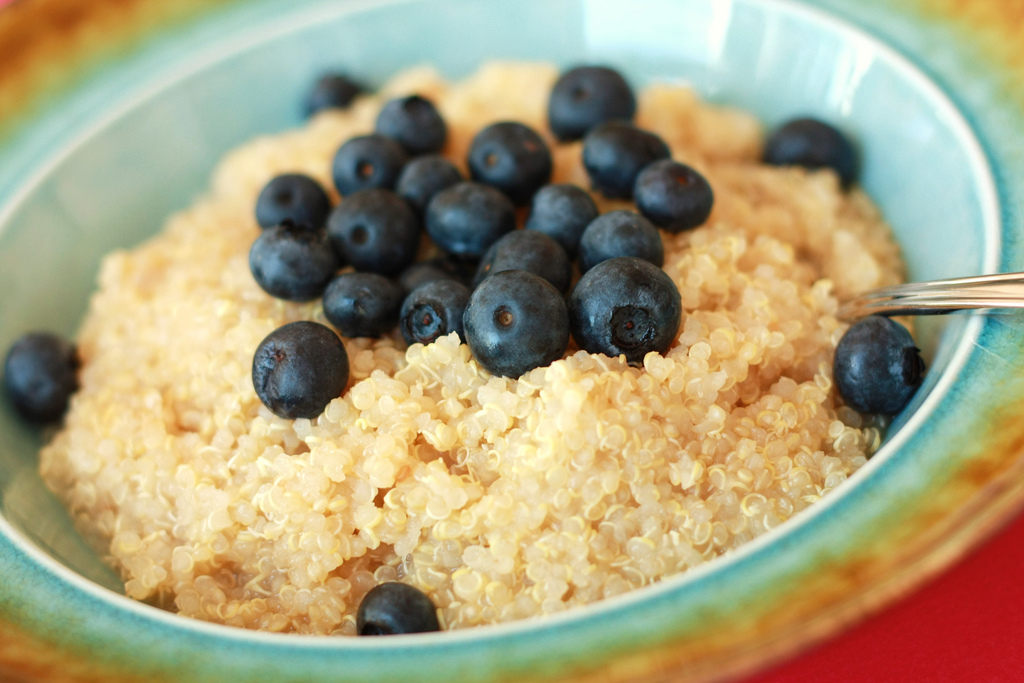 Berry quinoa photo via Flickr user SweetonVeg