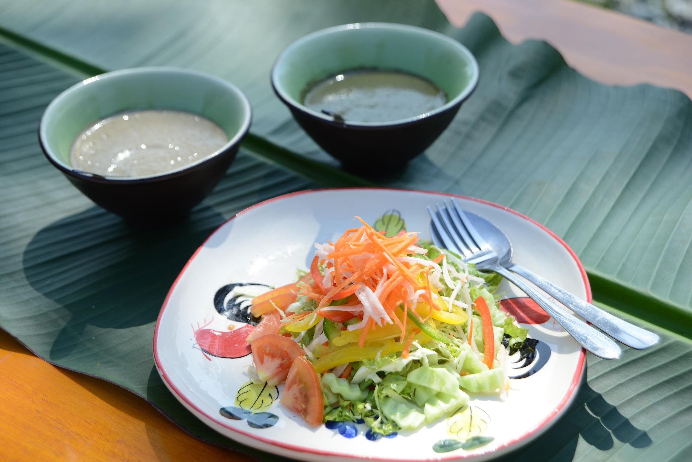 Fresh organic vegetables nourish the detox process at Museflower Retreat & Spa Chiang Rai