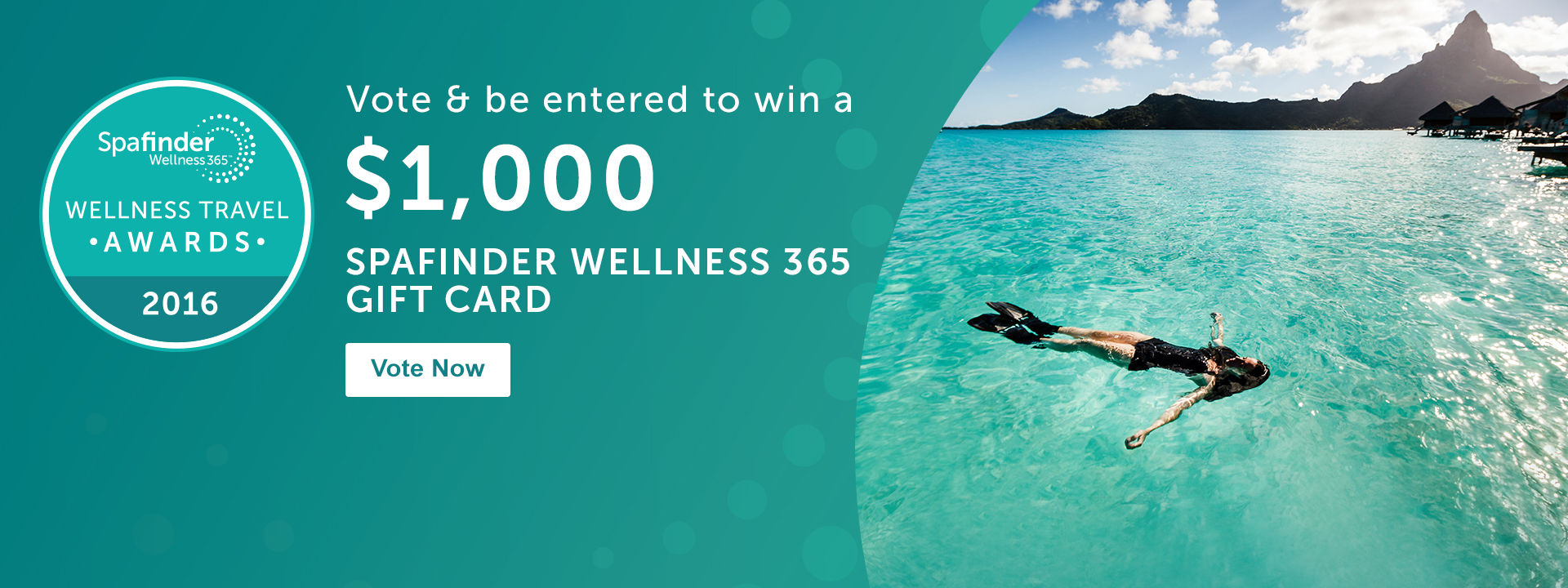 Vote & be entered to win a $1000 Spafinder Wellness 365 Gift Card - Vote Now