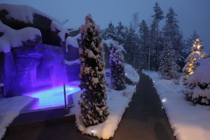 "At Hôtel Sacacomie guests can try James- Bondesque ""ice driving,"" and take a Porsche (with studded tires) out for a 150 mph ""spin"" across a frozen lake (along with dog-sledding and snow tubing) and then hit the toasty Geos Les Bains spa with underground saunas and steam baths."