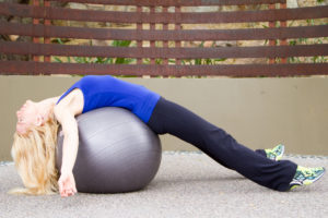 stability ball back stretch