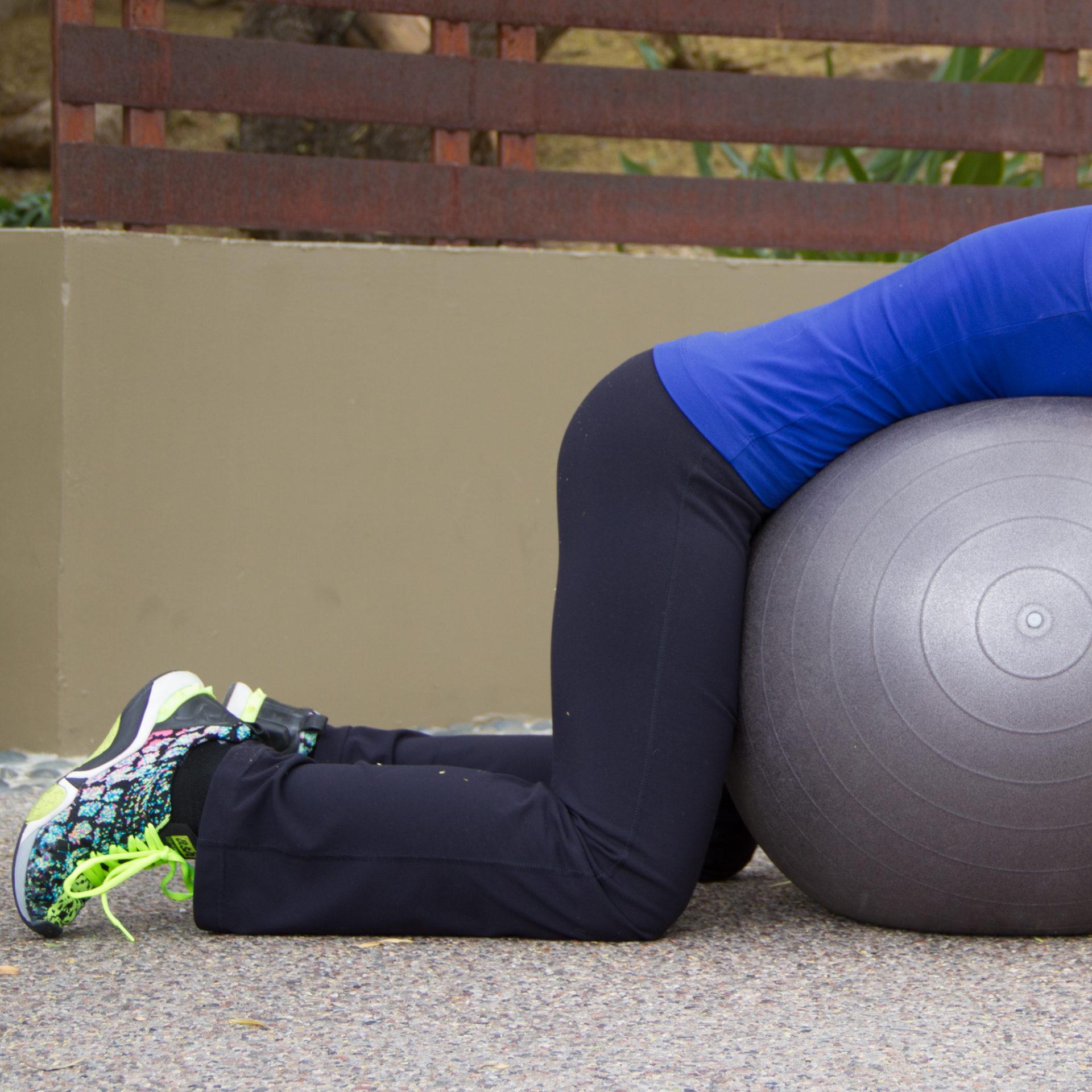 stability ball workout 5 stretch