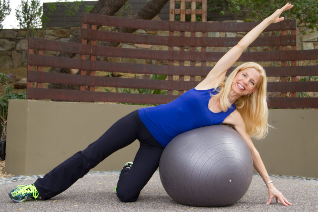 stability ball side