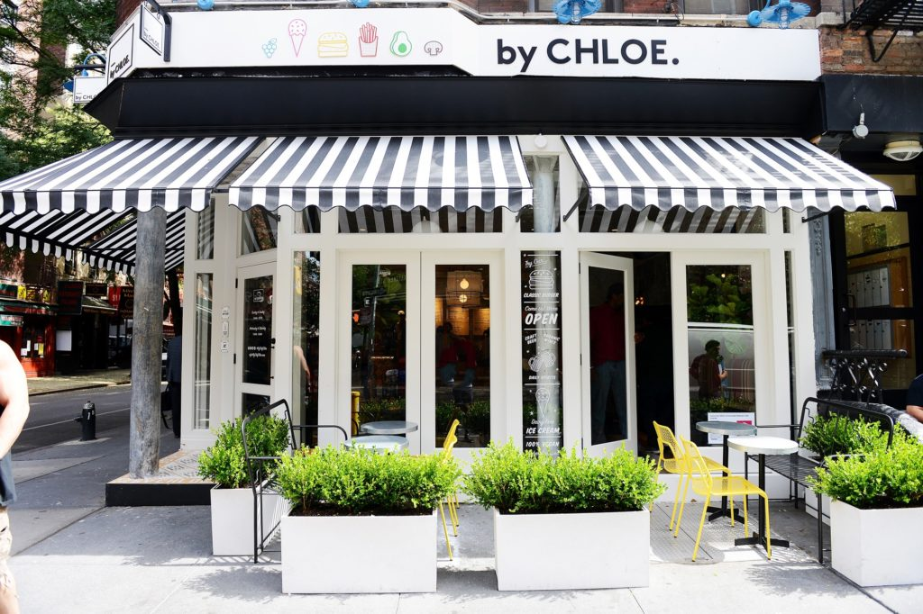 exterior of by chloe, a restaurant on bleeker street in NYC