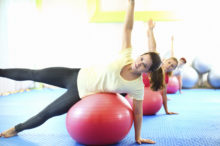 stability ball leg lift