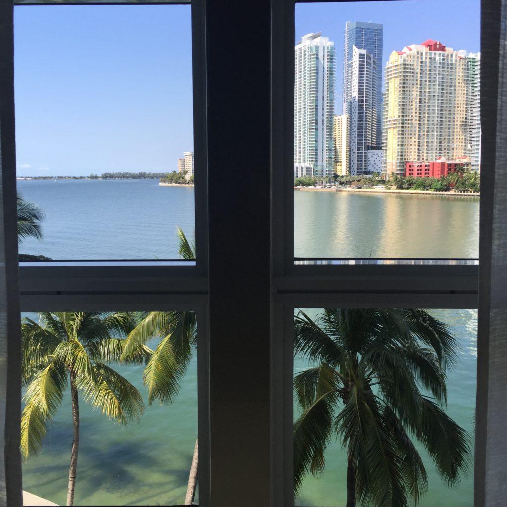 view from mandarin oriental miami spa