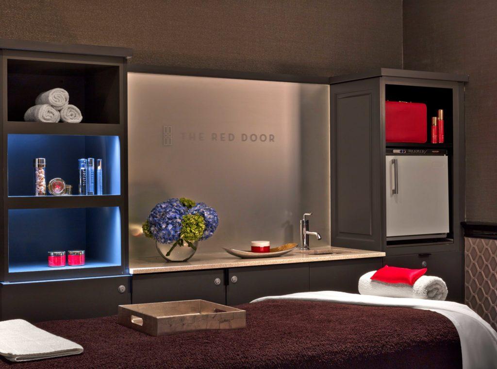 red door spa treatment room
