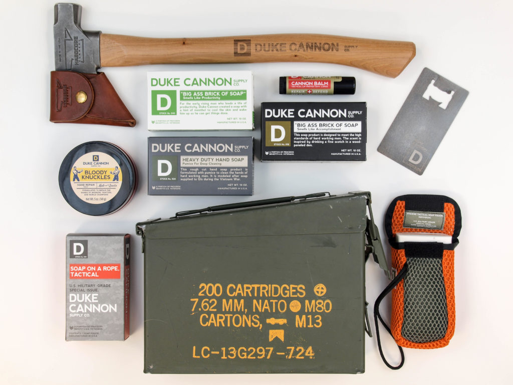 soap and hatchet set duke cannon