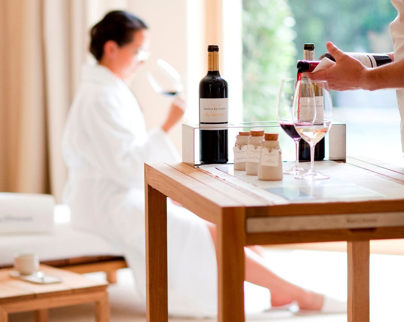 wine in a spa