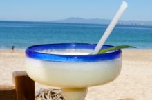 tequila drink on the beach