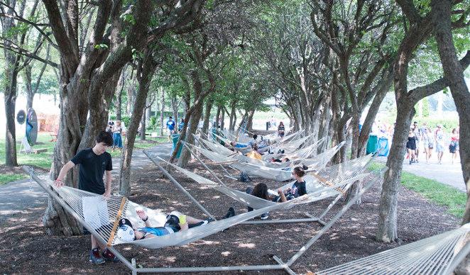 lollapalooza hammocks music festival wellness