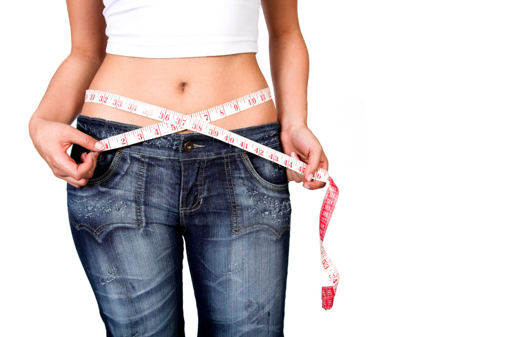 stomach bloating measuring tape