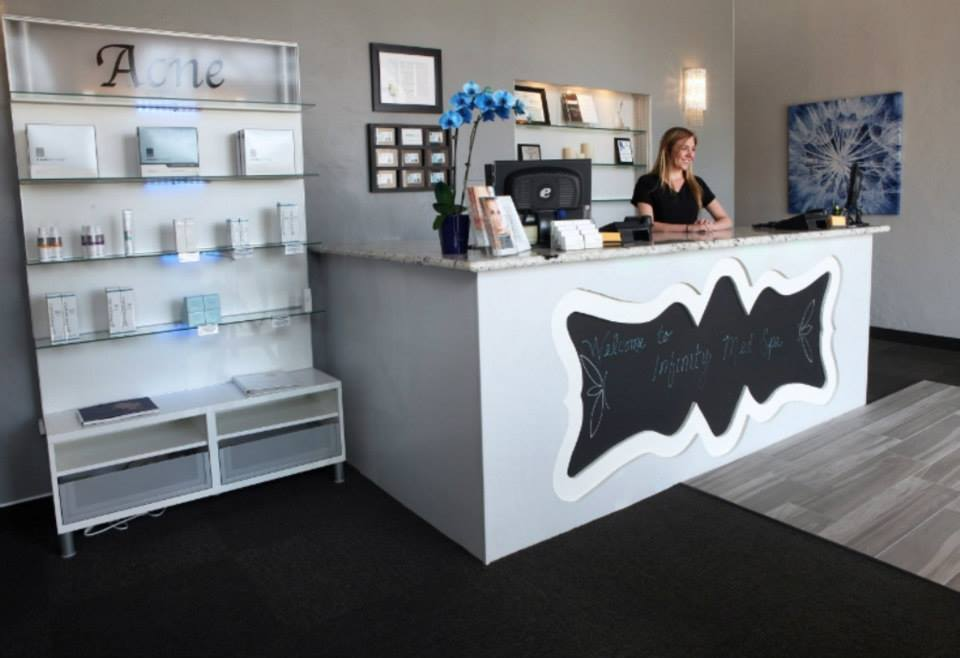 infinity med spa welcome desk
