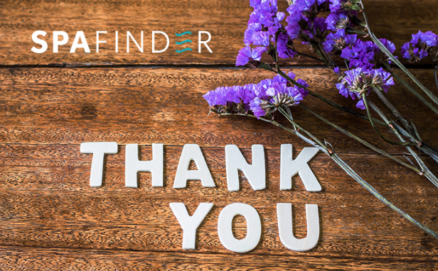 Say thank you with Spafinder