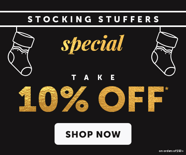 10% OFF $50+ with Promo Code: HOLIDAZE