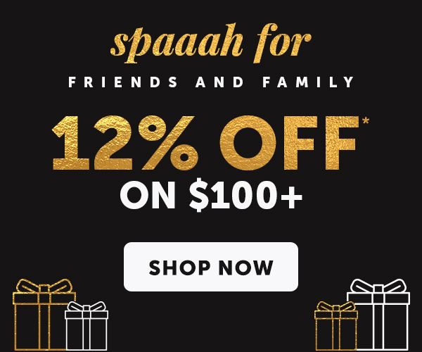 12% OFF $100+ with Promo Code: SPALALALA
