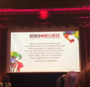 michelle obama women in wellness event